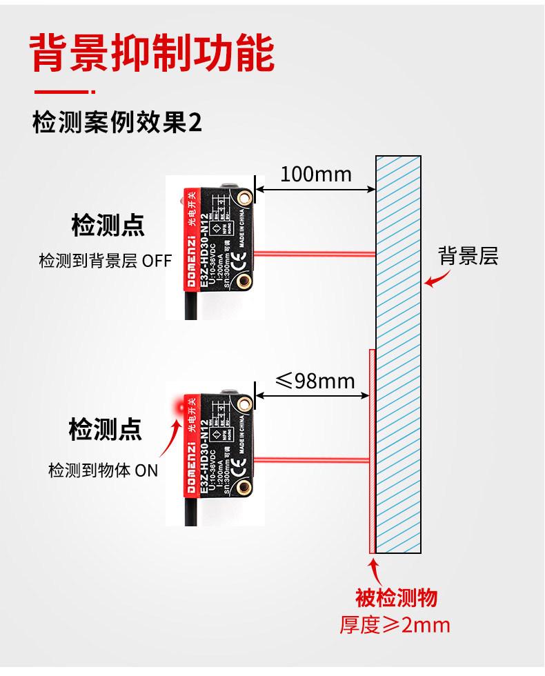什么是背景抑制功能光电开关传感器?