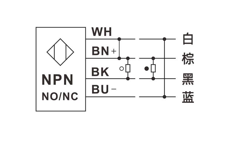E3Z-HD30系列 红色激光 检测小物体 漫反射光电开关-接线图