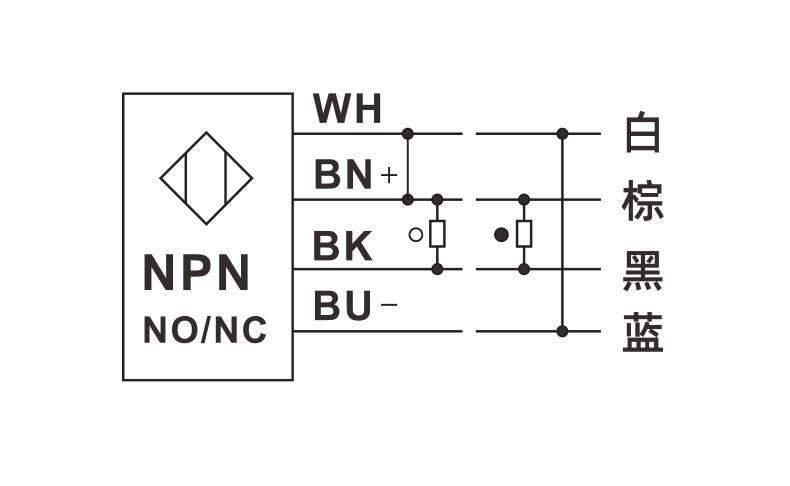 E3Z-LD30系列 红色可见光 带背景抑制功能光电开关-接线图