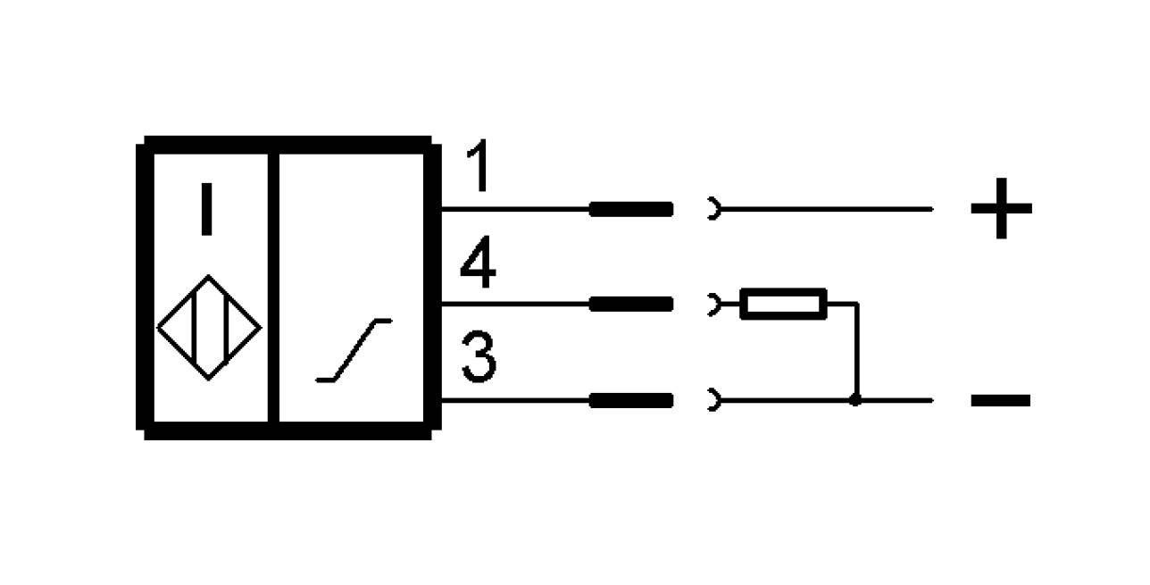 BAW Z08EO-UAD20B-S04G-H11 (BAW0040) 耐高压接近开关-接线图