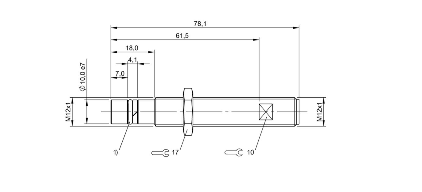 BAW Z08EO-UAD20B-S04G-H11 (BAW0040) 耐高压接近开关-尺寸图