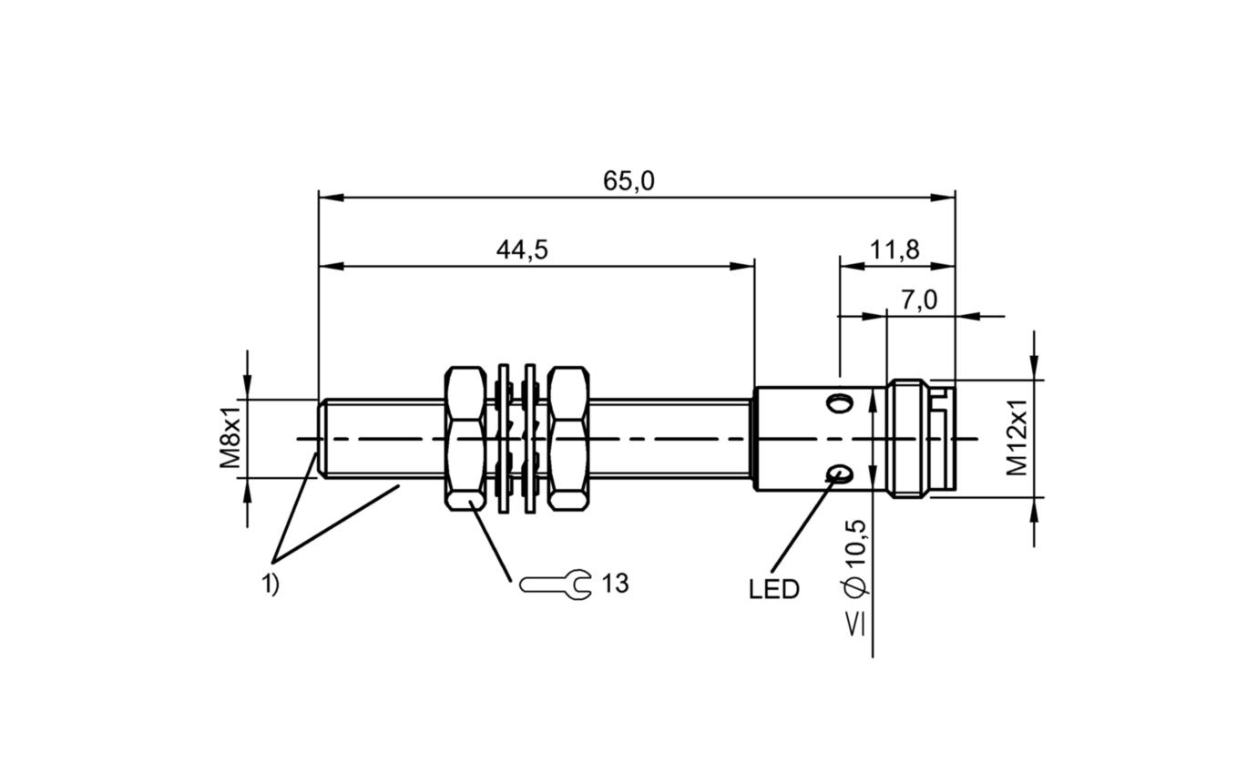 BES M08EH1-NSC20B-S04G-S (BES02N3) 耐高压接近开关-尺寸图
