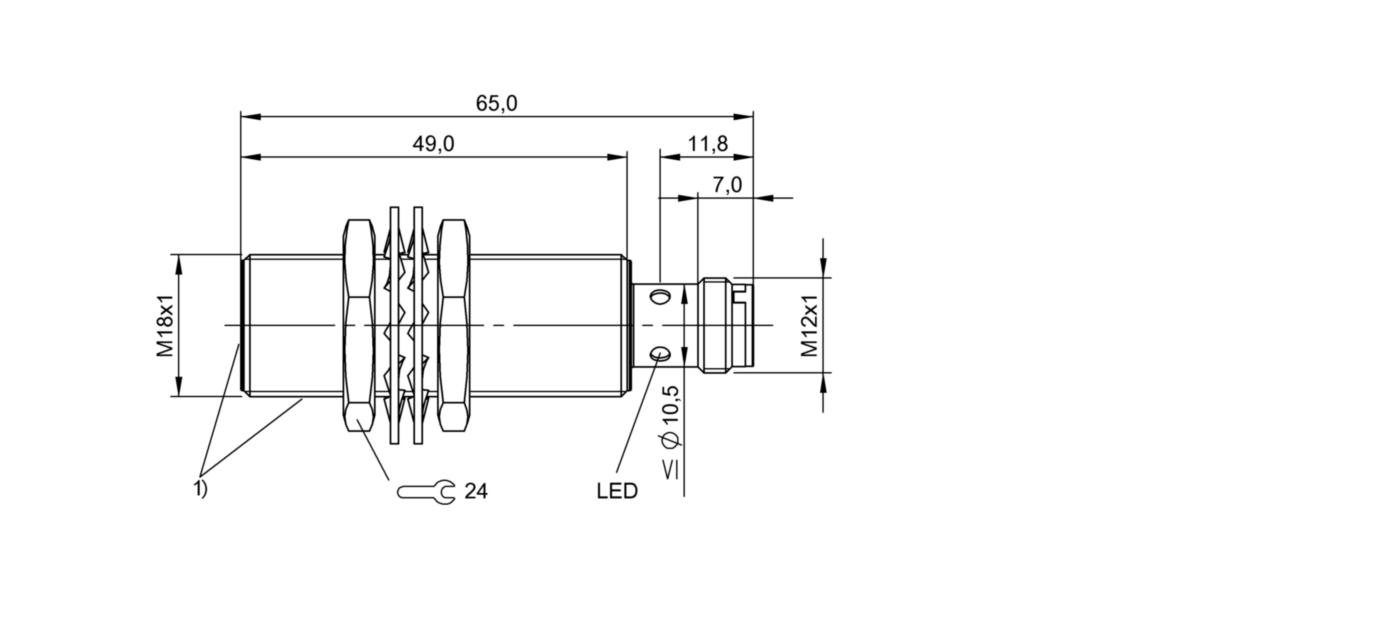 BES M18EI-PSC72B-S04G-S01 (BES02NK) 耐高压接近开关-尺寸图