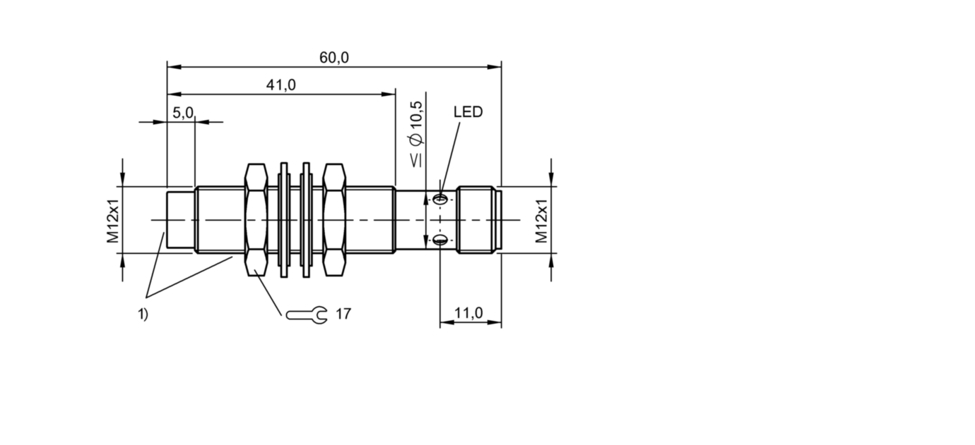 BES M12EF1-NSC10F-S04G-S (BES02WC) 耐高压接近开关-尺寸图