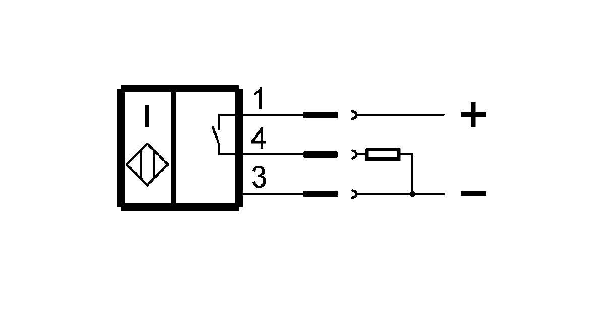 BES M12EF1-PSC10F-S04G-S (BES02WE) 耐高压接近开关-接线图