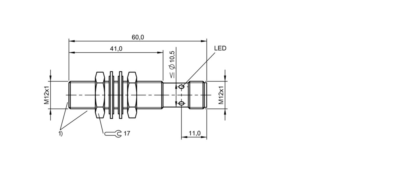 BES M12EG1-PSC60Z-S04G-S11 (BES02WH) 耐高压接近开关-尺寸图