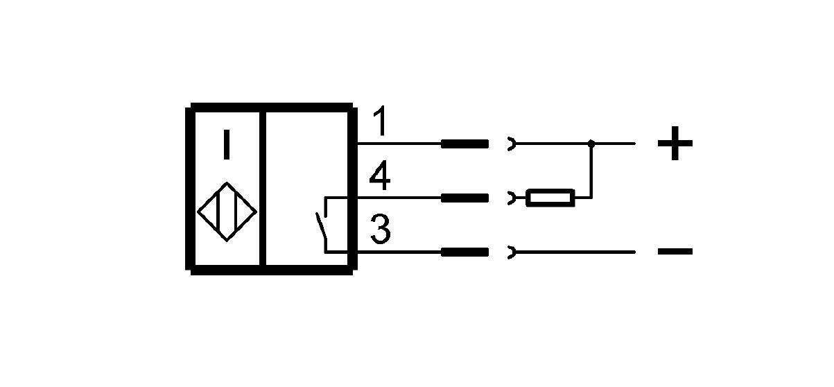 BES M18EF1-NSC20F-S04G-S (BES02Y0) 耐高压接近开关-接线图