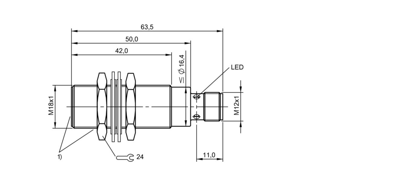 BES M18EG1-PSC10Z-S04G-S11 (BES02Y3) 耐高压接近开关-尺寸图