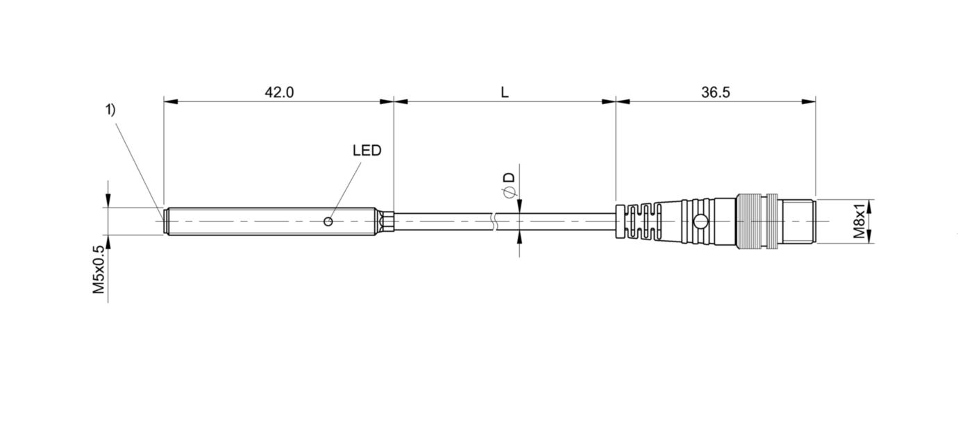 BES M05EG-NSC08B-BP00,2-GS49 (BES0315) 耐高压接近开关-尺寸图