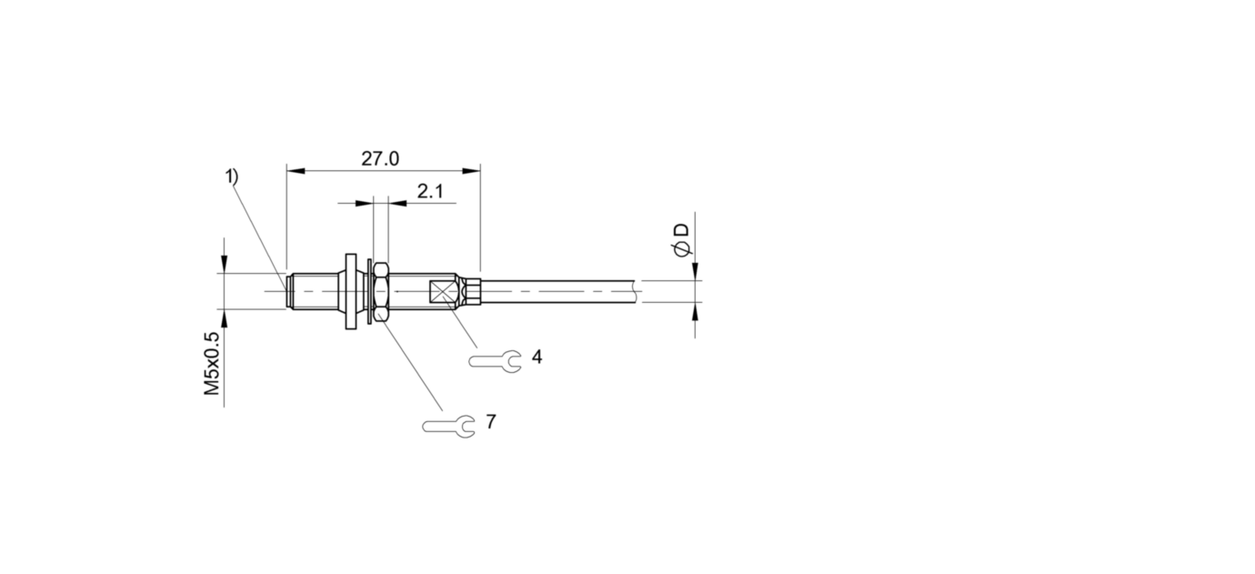 BES M05ED-NSD08B-BP02-R03 (BES03L9) 耐高压接近开关-尺寸图