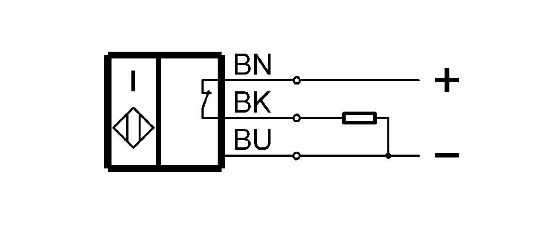 BES M05ED-POD08B-BP00,3-GS49-R03 (BES03LE) 耐高压接近开关-接线图