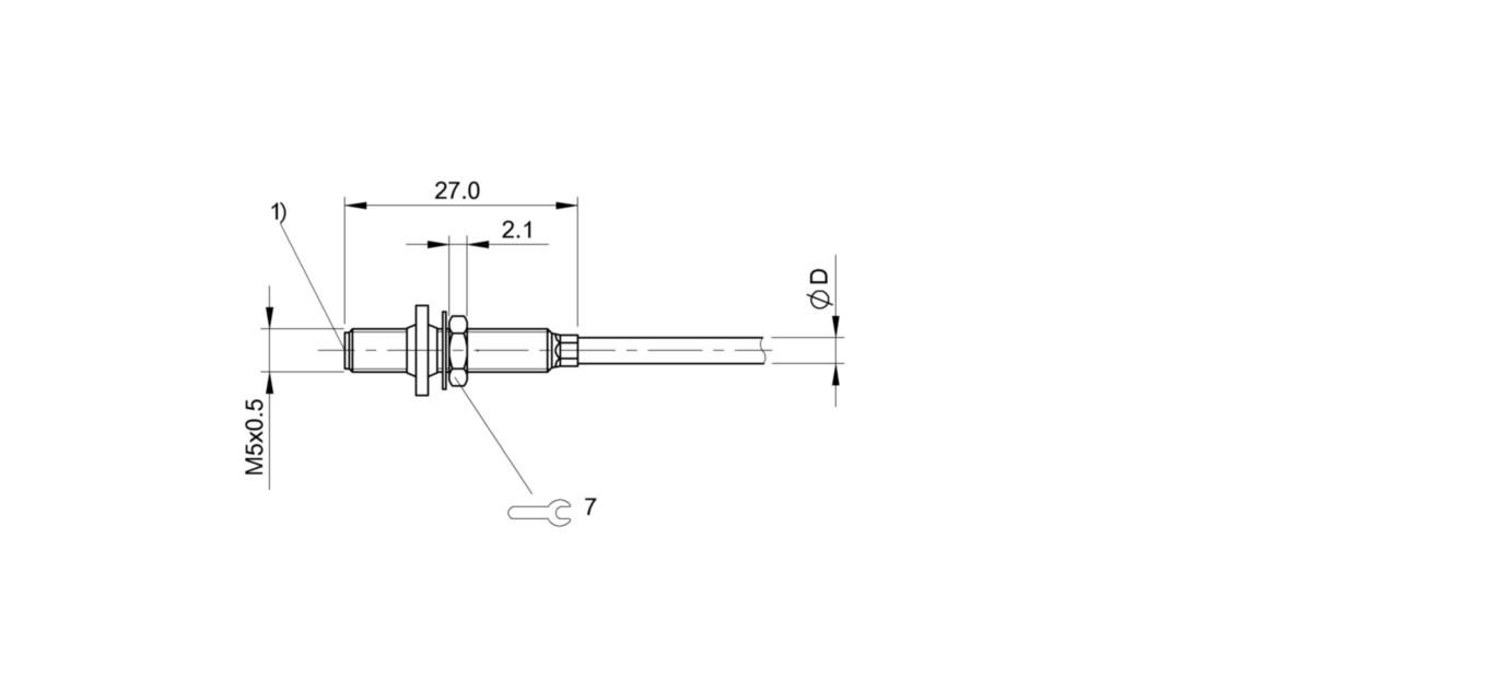 BES M05ED-PSC08B-BP02-R50 (BES03NZ) 耐高压接近开关-尺寸图