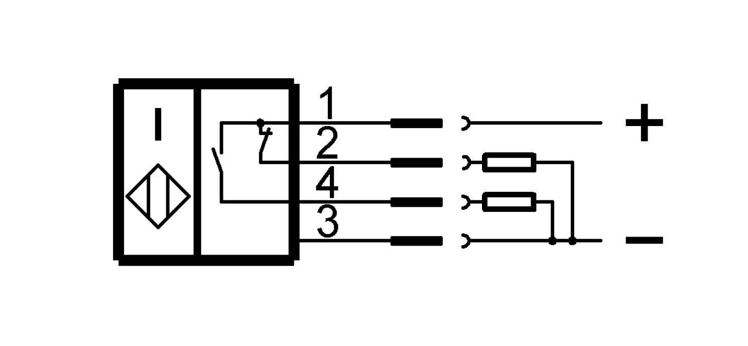 BES 516-100-S45-S4-D (BHS0001) 耐高压接近开关-接线图