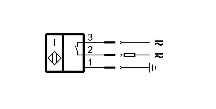 "BES 516-200-S2/1.250""-S21 (BHS0008) 耐高压接近开关-接线图"