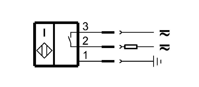"BES 516-200-S2/1.500""-S21 (BHS000H) 耐高压接近开关-接线图"