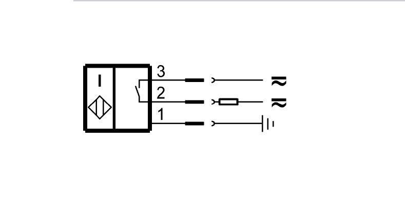 "BES 516-200-S2/2.275""-S5 (BHS000Y) 耐高压接近开关-接线图"