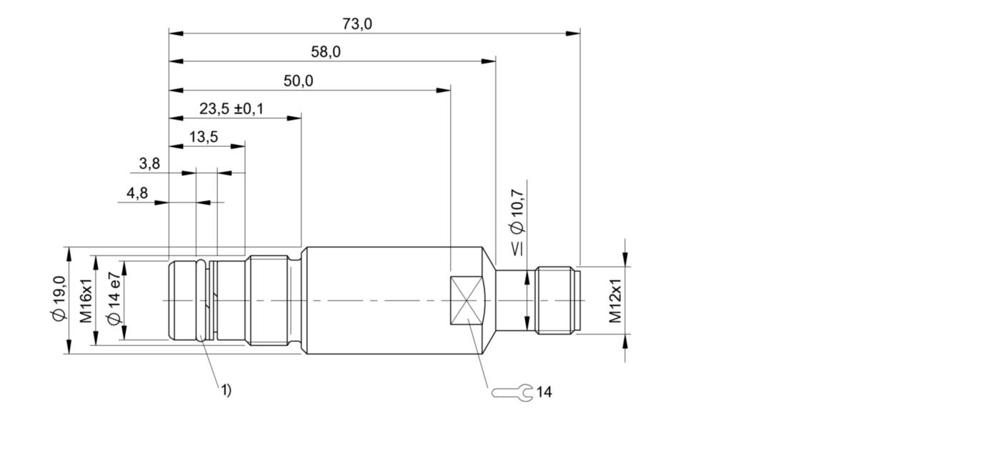 BES 516-300-S129-S4-D (BHS001E) 耐高压接近开关-尺寸图