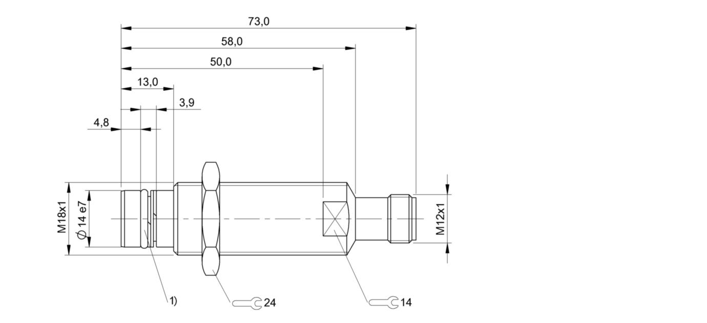BES 516-300-S144-S4-D (BHS001N) 耐高压接近开关-尺寸图