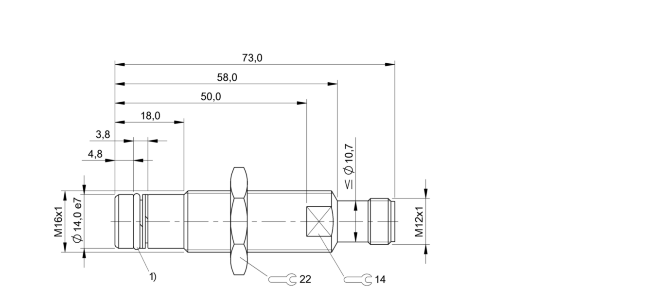 BES 516-300-S149-S4-D (BHS001T) 耐高压接近开关-尺寸图