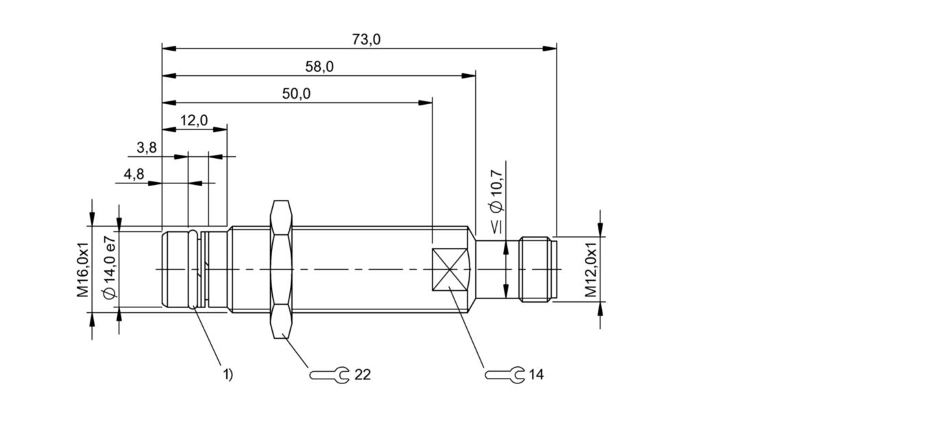 BES 516-300-S152-S4-D (BHS001W) 耐高压接近开关-尺寸图