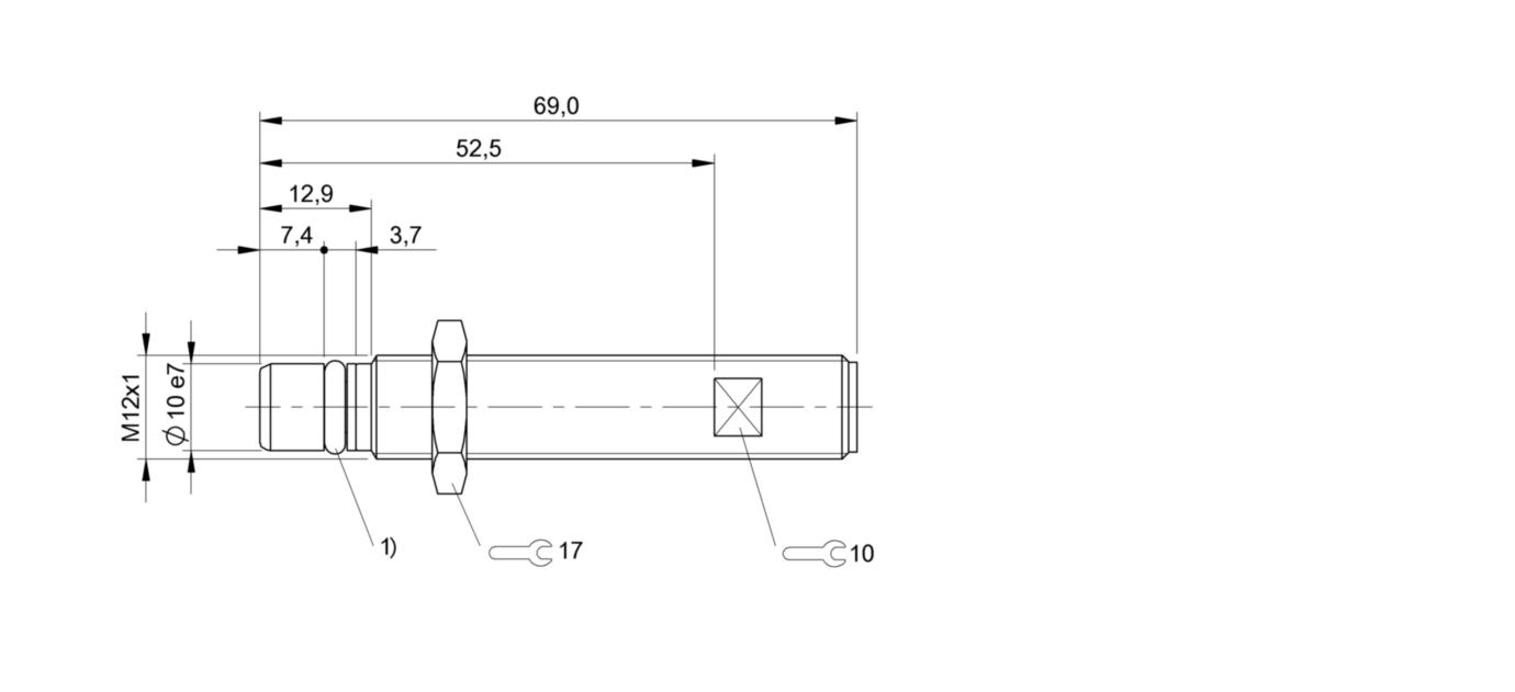 BES 516-300-S162-S4-D (BHS0021) 耐高压接近开关-尺寸图