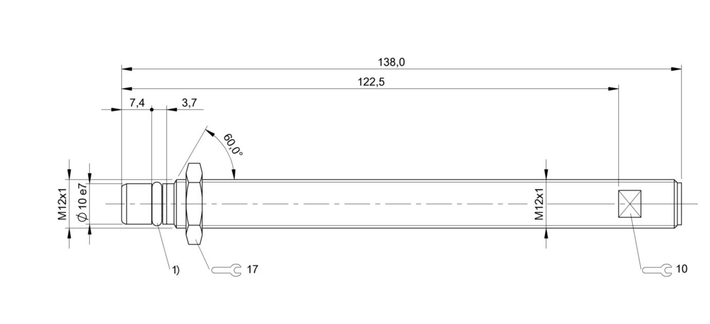 BES 516-300-S164-S4-D (BHS0023) 耐高压接近开关-尺寸图