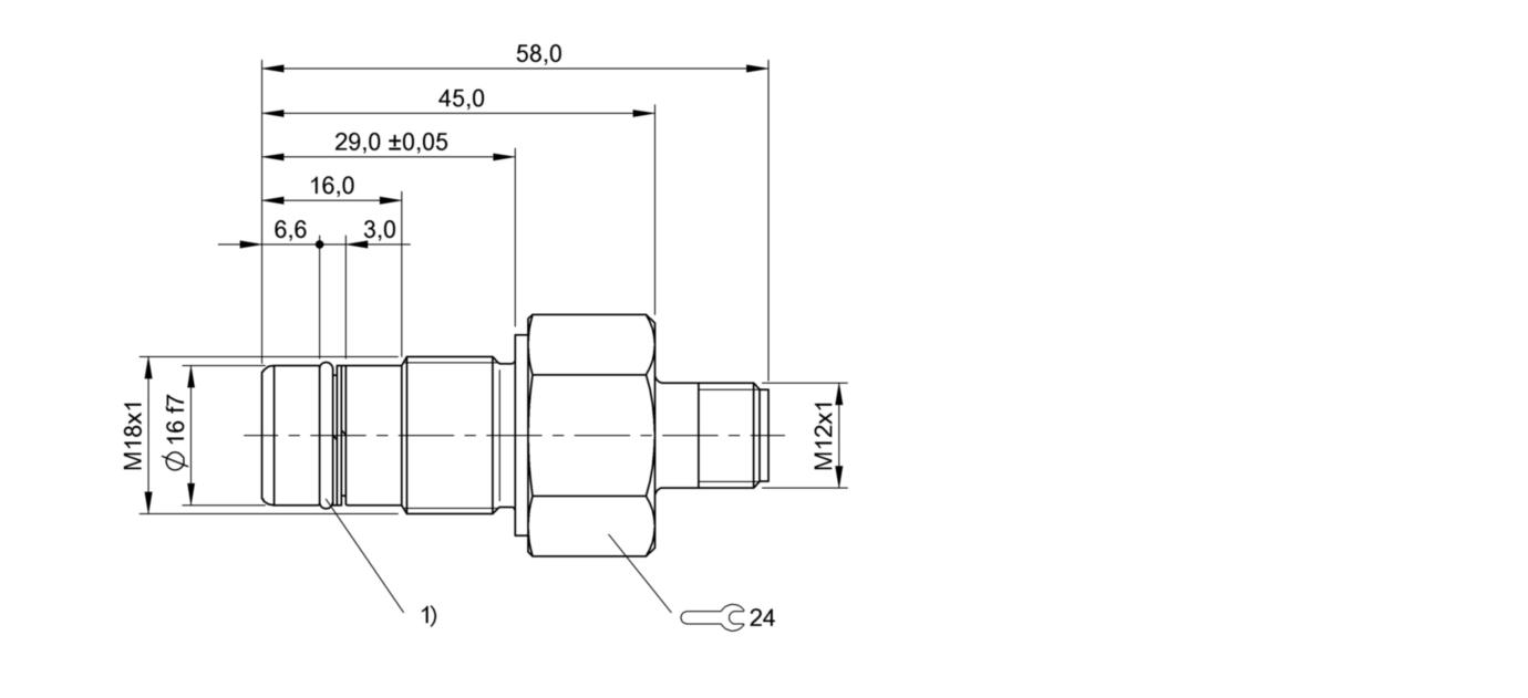 BES 516-300-S190-S4 (BHS0026) 耐高压接近开关-尺寸图