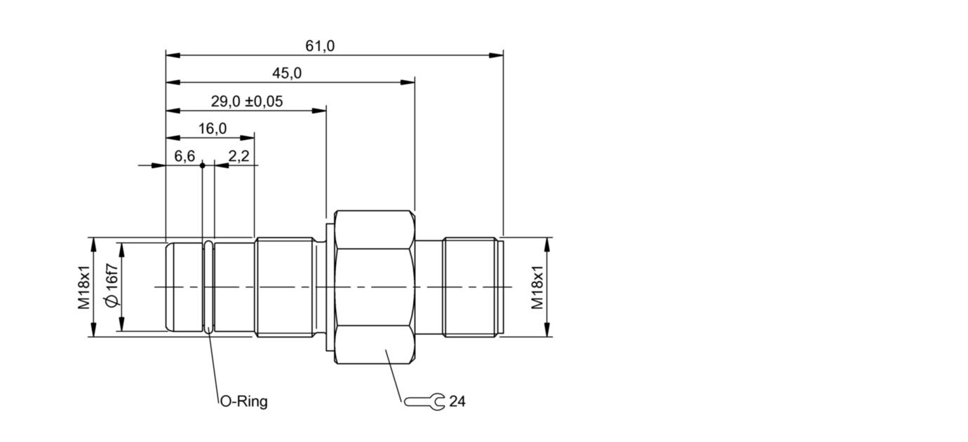 BES 516-300-S203 (BHS0027) 耐高压接近开关-尺寸图
