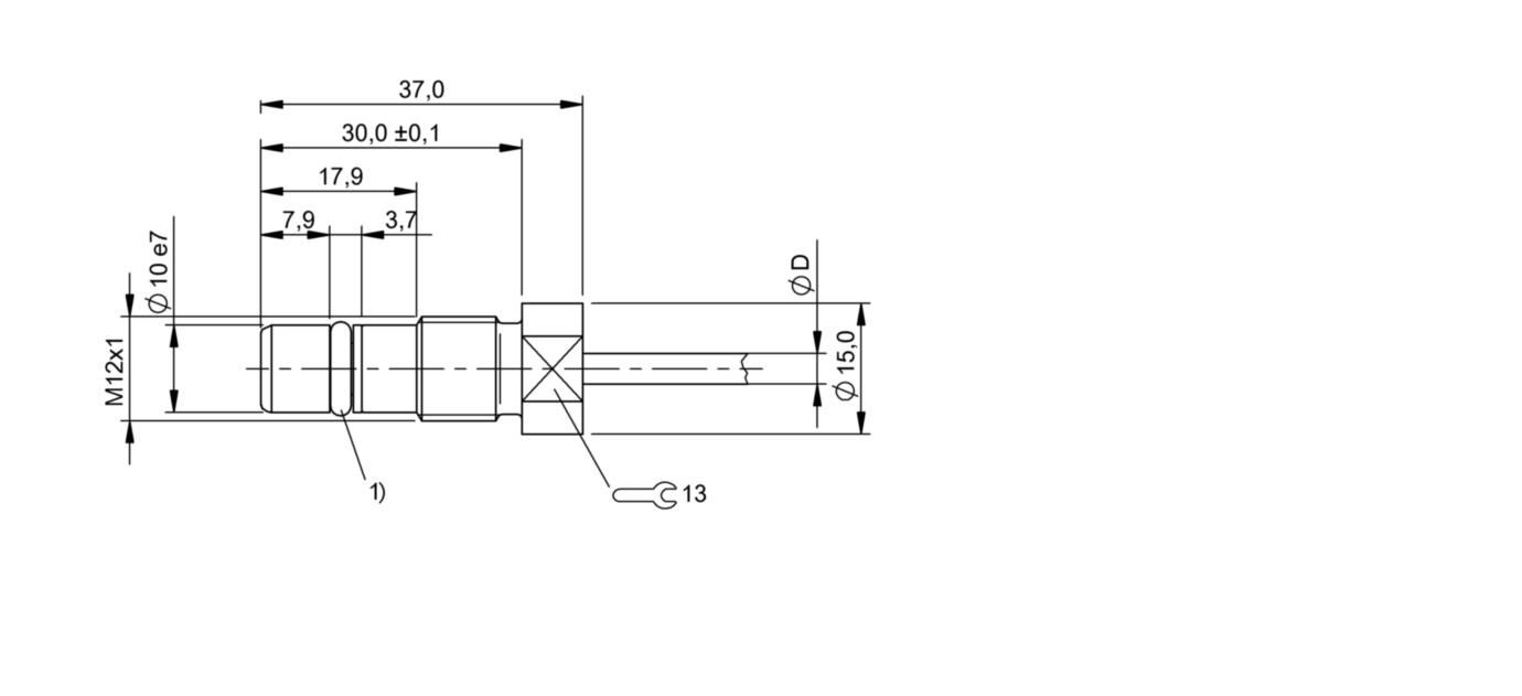 BES 516-300-S205-D-PU-03 (BHS0028) 耐高压接近开关-尺寸图