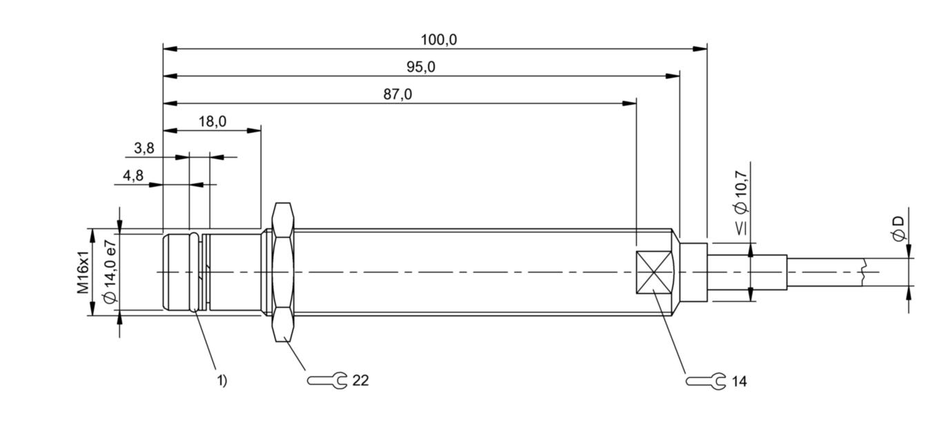 BES 516-300-S237-D-PU-05 (BHS002C) 耐高压接近开关-尺寸图