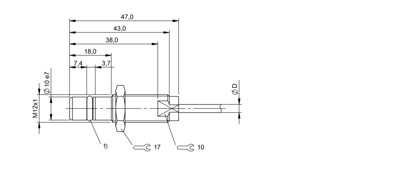 BES 516-300-S241-D-PU-05 (BHS002P) 耐高压接近开关-尺寸图