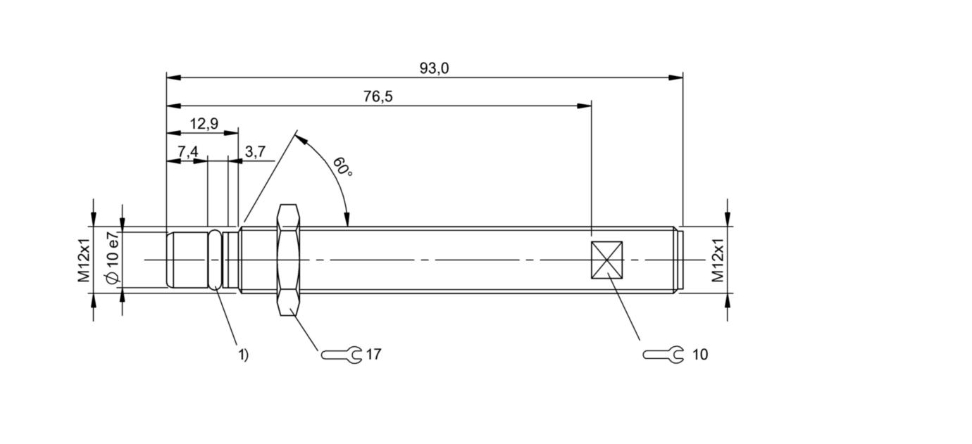 BES 516-300-S242-S4-D (BHS002U) 耐高压接近开关-尺寸图