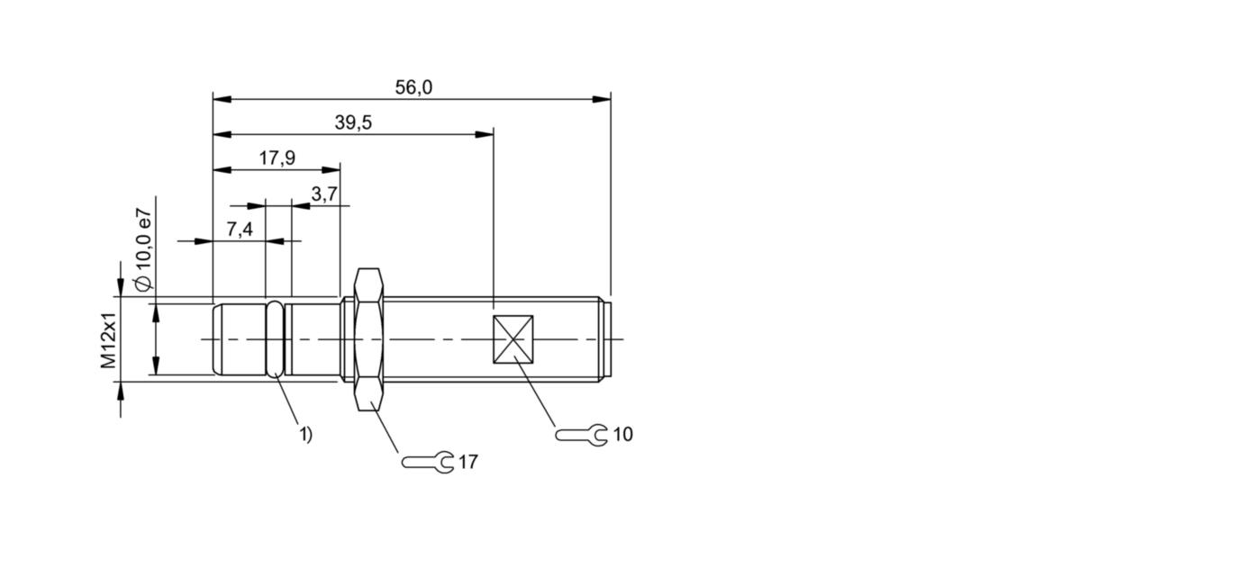 BES 516-300-S249-S4-D (BHS002Y) 耐高压接近开关-尺寸图