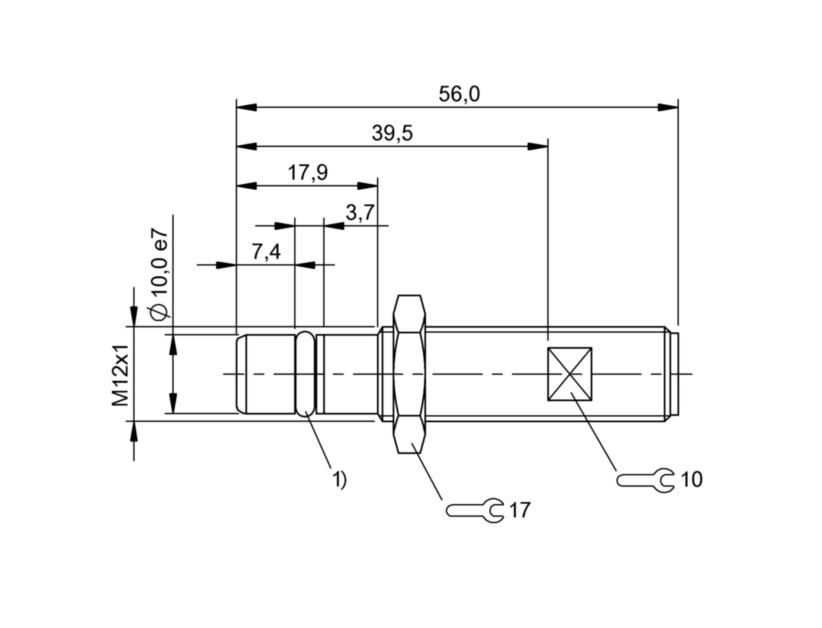 BES 516-300-S266-S4 (BHS0034) 耐高压接近开关-尺寸图