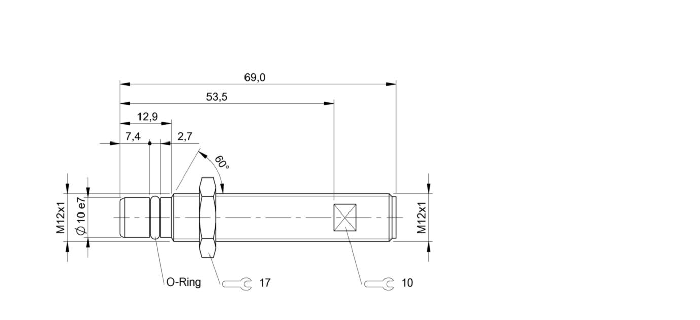 BES 516-300-S270-S4-D (BHS0035) 耐高压接近开关-尺寸图