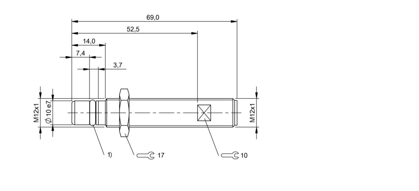 BES 516-300-S281-S4-D (BHS0037) 耐高压接近开关-尺寸图