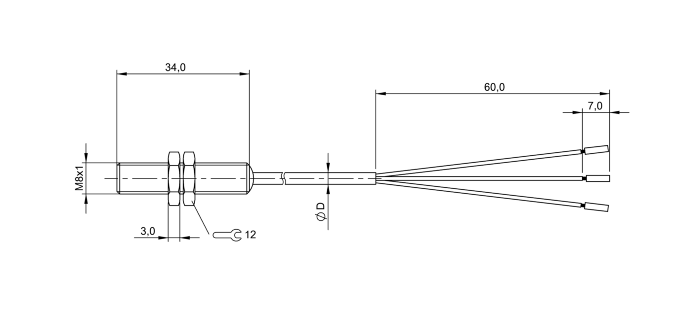 BES 516-300-S289-BO-D-PU-05 (BHS0039) 耐高压接近开关-尺寸图
