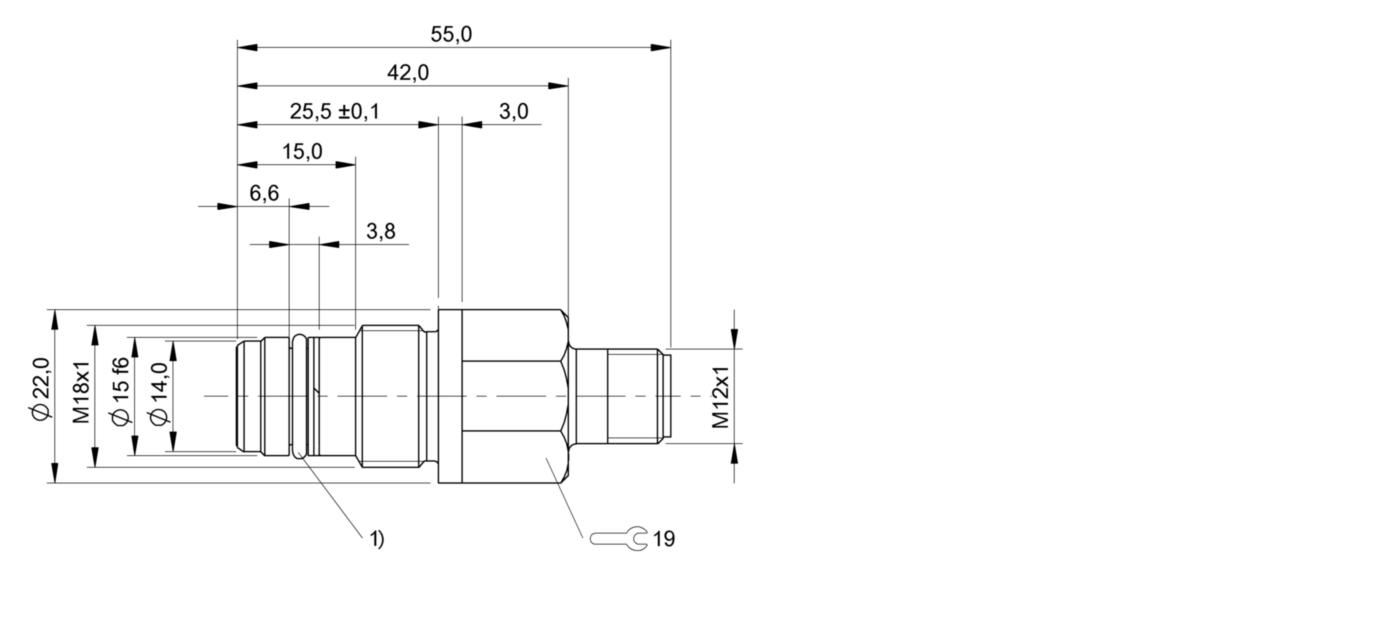 BES 516-300-S299-S4-D (BHS004A) 耐高压接近开关-尺寸图