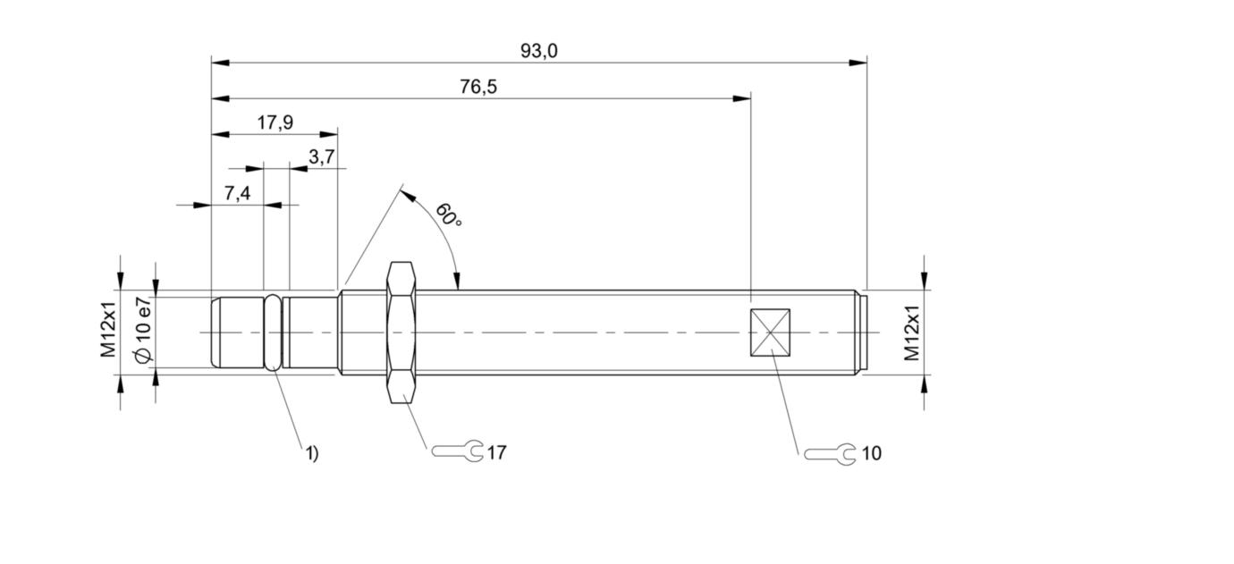 BES 516-300-S300-S4-D (BHS004C) 耐高压接近开关-尺寸图