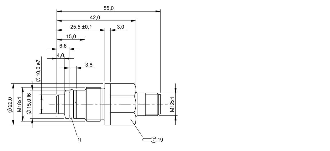 BES 516-300-S308-NEX-S4-D (BHS004H) 耐高压接近开关-尺寸图