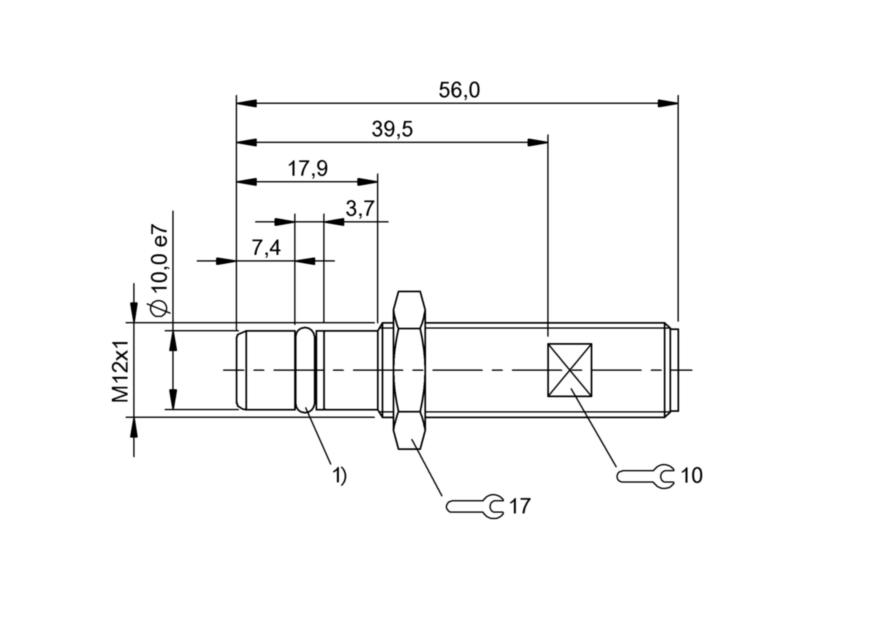 BES 516-300-S315-S4-N (BHS004K) 耐高压接近开关-尺寸图