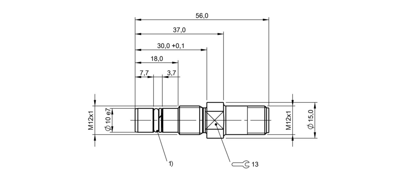 BES 516-300-S318-S4-N (BHS004L) 耐高压接近开关-尺寸图