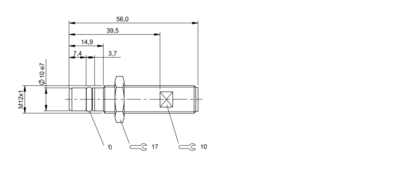 BES 516-300-S323-S4-D (BHS004R) 耐高压接近开关-尺寸图