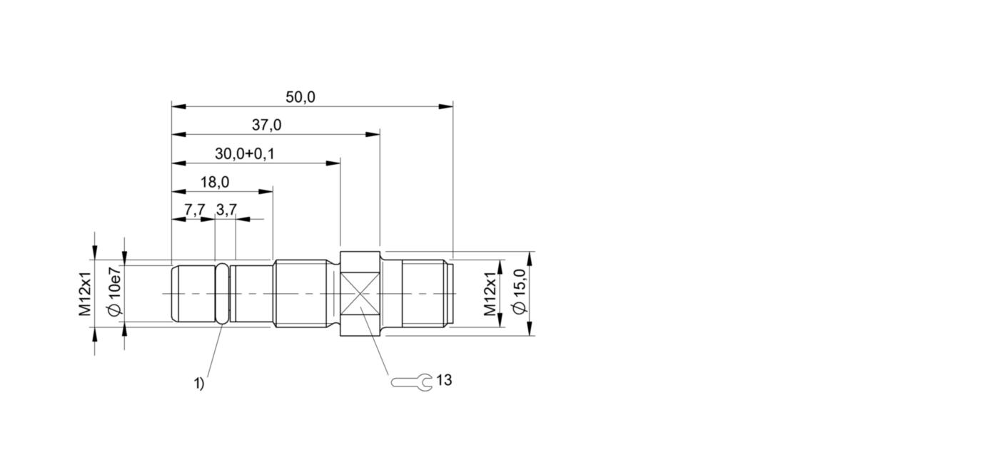 BES 516-300-S324-S4-D (BHS004T) 耐高压接近开关-尺寸图