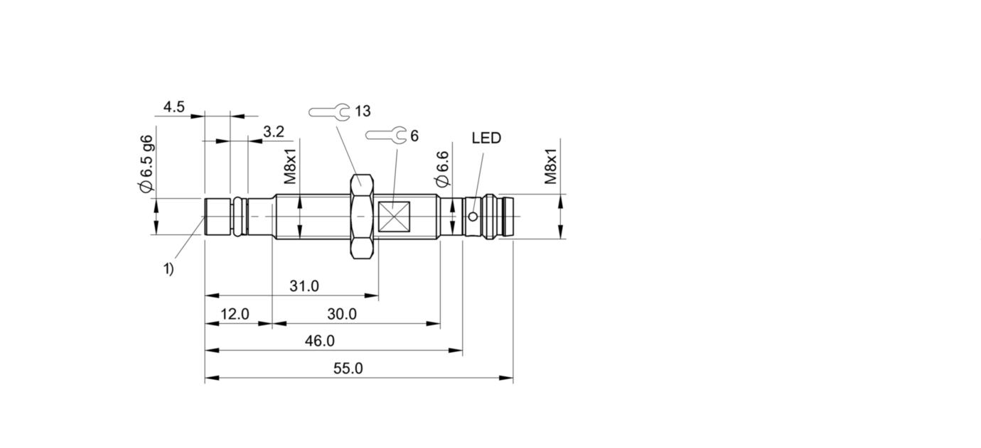 BHS A402N-POC15-S49 (BHS004Z) 耐高压接近开关-尺寸图