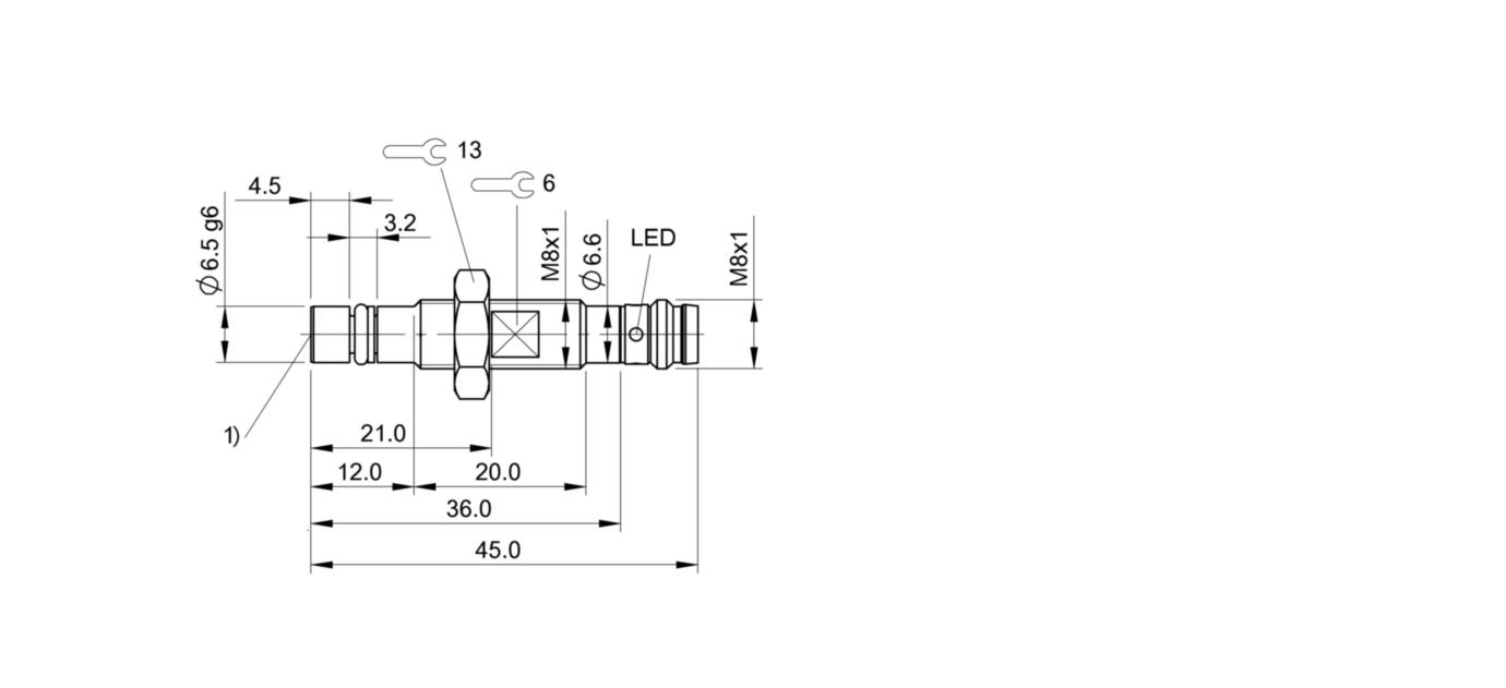 BHS A404N-POC15-S49 (BHS0053) 耐高压接近开关-尺寸图