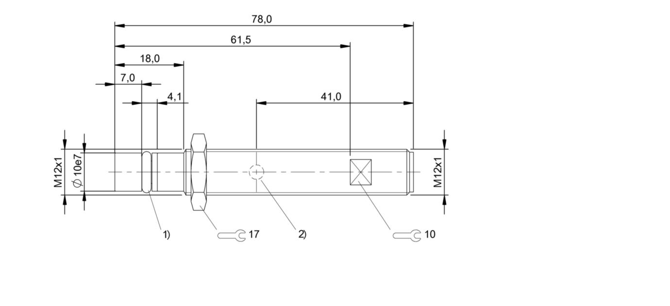 BHS B135V-PSD15-S04-T01 (BHS005T) 耐高压接近开关-尺寸图