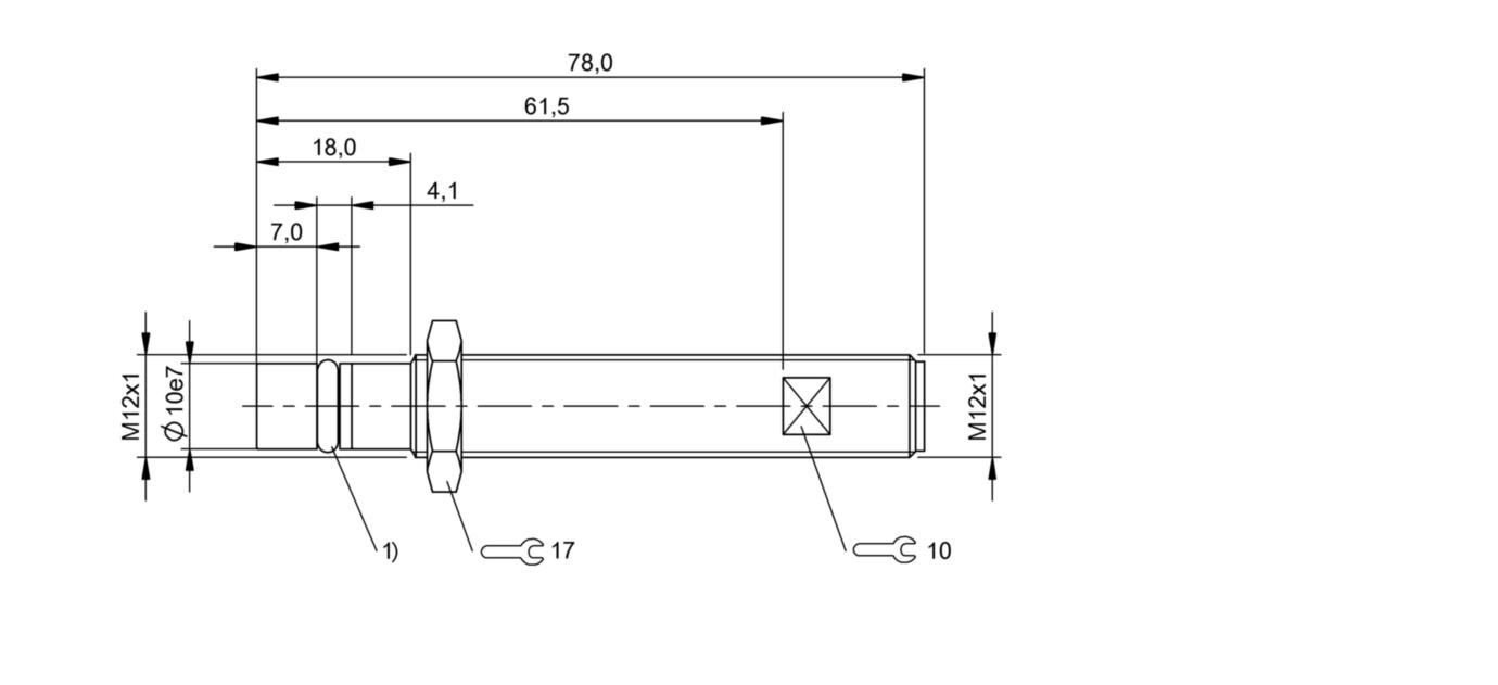 BHS B135V-PSD25-S04-003 (BHS005U) 耐高压接近开关-尺寸图