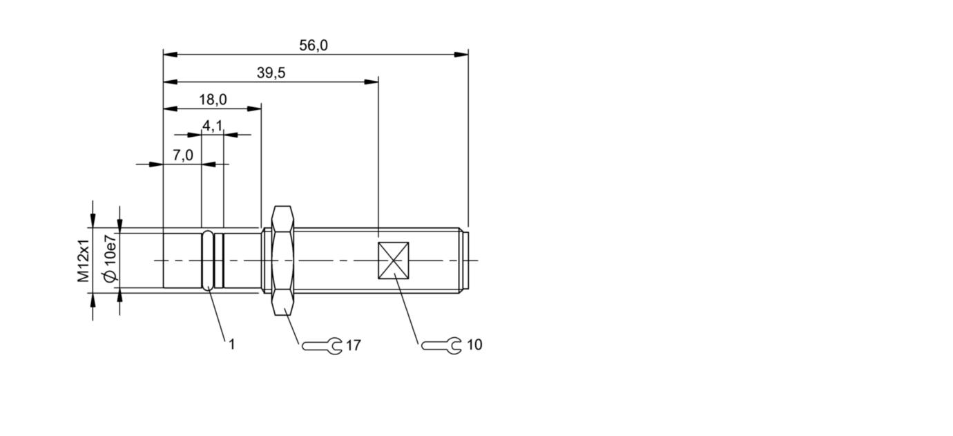 BHS B249V-PSD25-S04-003 (BHS0060) 耐高压接近开关-尺寸图
