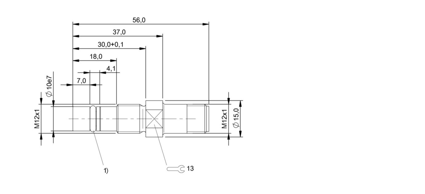 BHS B400V-PSD15-S04 (BHS0063) 耐高压接近开关-尺寸图